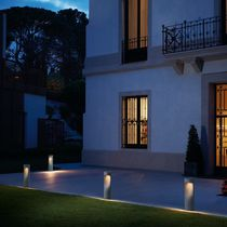 Garden bollard light / contemporary / concrete / LED