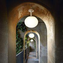 Contemporary ceiling light / round / glass / halogen