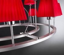 Contemporary chandelier / iron / chrome / cotton