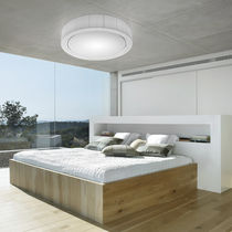 Contemporary ceiling light / round / polyester / crystal