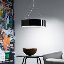Pendant lamp / contemporary / glass / polyurethane