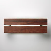 Contemporary wall light / outdoor / wood / aluminum
