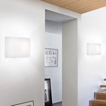 Contemporary wall light / cotton / polyester / LED