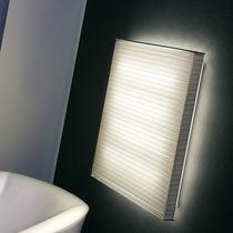 Contemporary wall light / aluminum / polyester / fluorescent