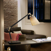 Table lamp / contemporary / cotton / chromed metal