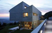 Contemporary wall light / outdoor / cast aluminum / glass