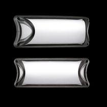 Contemporary wall light / outdoor / glass / aluminum