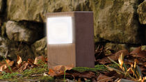 Urban bollard light / contemporary / concrete / LED