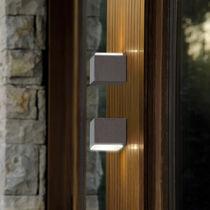 Contemporary wall light / outdoor / concrete / square