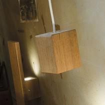Pendant lamp / contemporary / teak / outdoor