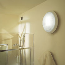 Contemporary wall light / outdoor / polycarbonate / square