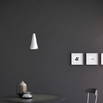 Pendant lamp / contemporary / concrete / stainless steel