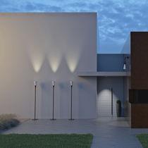 Floor-standing lamp / contemporary / concrete / polycarbonate