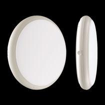 Contemporary ceiling light / round / aluminum / polycarbonate