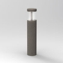Garden bollard light / contemporary / concrete / polycarbonate