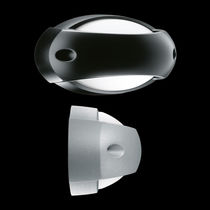 Contemporary wall light / outdoor / tempered glass facing / cast aluminum