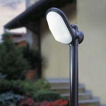 Garden bollard light / contemporary / aluminum / frosted glass