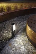 Garden bollard light / contemporary / cast aluminum / concrete
