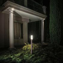 Garden bollard light / contemporary / cast aluminum / polycarbonate