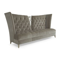 Traditional sofa / fabric / high back