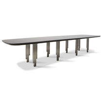 Contemporary dining table / ebony / rectangular
