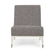 Contemporary fireside chair / fabric