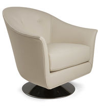 Contemporary armchair / fabric / swivel