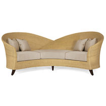 Traditional sofa / rattan / 3-seater / multi-color