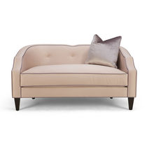 Classic sofa / fabric / 2-seater / beige