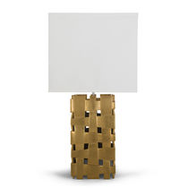 Table lamp / contemporary / wooden