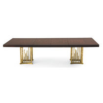 Traditional dining table / mahogany / rectangular / extending