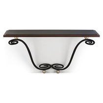 Traditional sideboard table / mahogany / wrought steel / rectangular