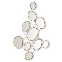 Wall-mounted mirror / original design / oval / metal