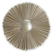 Wall-mounted mirror / contemporary / round / golden