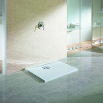 Rectangular shower base / acrylic / extra-flat / non-slip