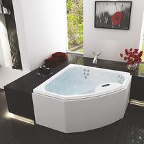 Angle bathtub / acrylic / hydromassage / medical