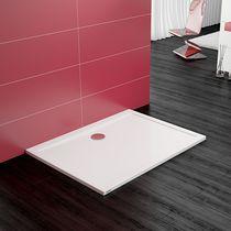 Rectangular shower base / acrylic / extra-flat / barrier-free