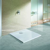 Square shower base / acrylic / extra-flat / barrier-free