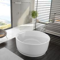 Free-standing bathtub / round / acrylic