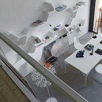 Wall-mounted shelf / original design / polyurethane
