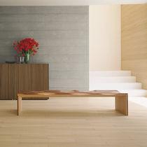 Contemporary bench / oak / walnut / ash