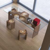 Contemporary dining table / oak / walnut / ash