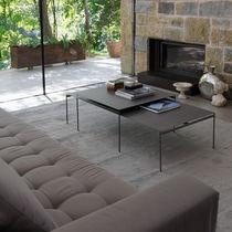 Contemporary coffee table / metal / ceramic / rectangular