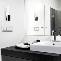 Contemporary wall light / bathroom / glass