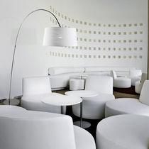 Floor-standing lamp / contemporary / steel / arc