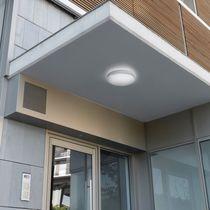 Contemporary ceiling light / round / plastic / fluorescent