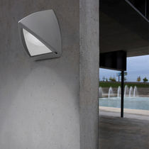 Contemporary wall light / outdoor / glass / for public spaces