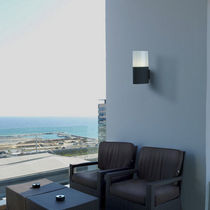 Contemporary wall light / outdoor / aluminum / metal