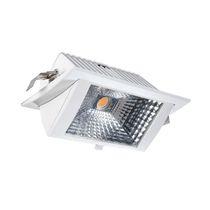 Recessed downlight / LED / rectangular / aluminum
