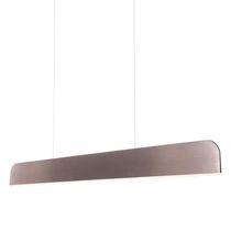 Hanging light fixture / LED / rectangular / linear